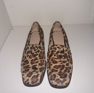 SOMETHING NAVY LEOPARD LOAFERS